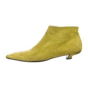 Prada square-toe leather boots